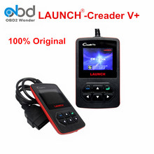 2017 Portable 100% Original Online Update Launch Creader V+ OBD2 Code Reader Launch Creader V Plus Diagnostic Tool Free Shipping(China)