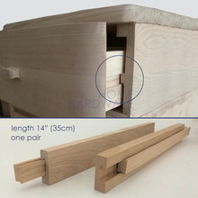 "35cm 14"" wooden drawer slides cabinet DIY one pair 2 pcs"
