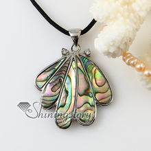 teardrop rainbow abalone oyster shell necklaces pendants 2013 cheap handmade jewelry