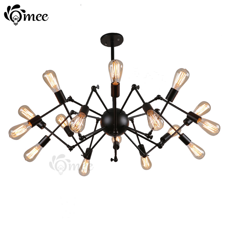 8/12/16 Bulbs Iron Spider Chandelier Lamp , Black Chalets Can Be Adjustable Angle Chandeliers Light For Led Home Lighting (Omee)<br><br>Aliexpress