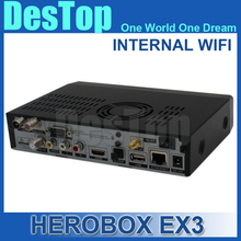 herobox ex3 hd wifi DVB-S2/T2/C tuner 751MHZ MIPS Processor 256MB Flash 512MB DDR3 Linux OS Support 300M Wifi