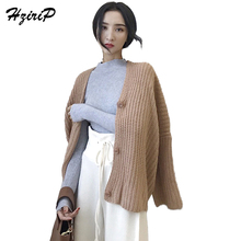 Buy HziriP Knitted Cardigans Sweater Women Casual Long Sleeve 2017 Autumn Ladies Clothing V-neck Embroidery Oversized Sweaters for $20.77 in AliExpress store