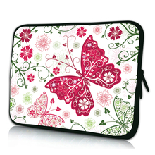 "Noble Butterfly Mini 7 Inch 10"" 12"" 13"" 14"" 15"" 17"" Laptop Sleeve Bag Netbook Portable Cover Cases For Macbook Dell Acer Lenovo"