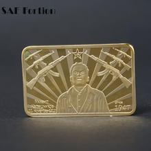 SAE Fortion AK47 Rifle Gold Bar Cccp Russian Replica Gold Bars Gold Bullion Commemorative Coin JNB2578(China)
