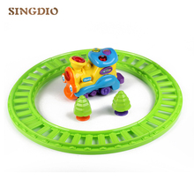 Baby Railway Engine Music Toy Locomotive Toy Music Keyboard Instrument Light Source Baby Playing Musical Instrument For Children(China)