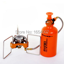 Free Shipping Fire Maple FMS-F5 Camping Oil Stove Outdoor Portable Foldable Cooking Cookware Fuel Furnace+Gift Oil Bottle&Pump