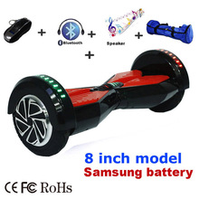 Bluetooth Speaker Hoverboard 2 Wheel Gyroscope Self balancing Electric Scooter two Wheels Hover Board Remote & LED Skateboard()