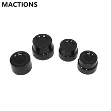 New Black CNC Aluminum RC Front+Rear Axle Cover Cap Nut Kit For Harley Sportster XL 883 1200(China)