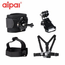 Buy Accessories Chest Head Strap Mount Belt 360 Rotation Wrist Strap Tripod Mount Aipal Gopro hero 4 3 Xiaomi yi Action Camera for $14.03 in AliExpress store
