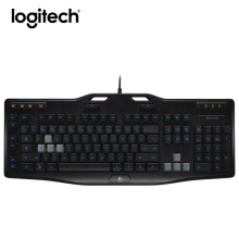 Logitech G105 Wired Gaming Keyboard Laptop PC Gamer Backlight Multi-key input Ergonomics Multimedia Keybord Computer Original