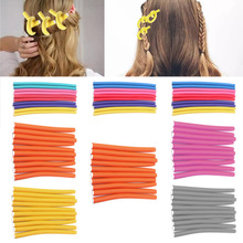 10pcs (Diameter:1.6cm) Magic Hair Curler Roller Soft Sponge Bendy Twist Curls Hair Care Easy Tool(China)