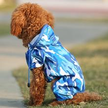Teddy dog raincoat pet raincoat waterproof raincoat small dog clothes dog legs poncho Pet Jumpsuit Raincoat