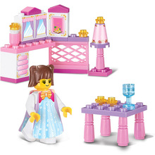 Sluban Model Toy Compatible with Lego B0238 35pcs Girl Pink Furniture Model Building Kits Toys Hobbies Building Model Blocks(China)