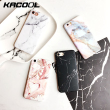 KACOOL Marble Phone Case For iPhone 6s 7 Plus Cases Matte Touch Marble Patterned Cover For iPhone 7 7 Plus Cases For iPhone 6 6s(China)