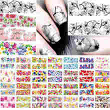 Shellhard 50 Sheets Mixed Designs Nail Art Stickers Water Transfer Nail Art Sticker Decal Tips For Nail Art Decoration(China)