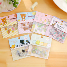 80 piece/pack Easily Bear Stickers Bio Corner Sticker For Notebook Message Twitter Large Classical Kids Toys