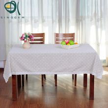 Sinogem Daisy Design Printed Tablecloth Square Rectangular Lace Dinner Table Cover DaisyTable Cloth Home Textile(China)
