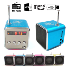 Handsfree Portable Mini Stereo Super Bass Speaker Amplifier Subwoofer FM Radio USB Micro SD TF Card MP3 Player TD-V26 6 Colors