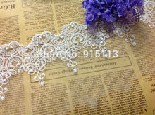 Novelty DIY lace fabrics 19 yards/lot width9.5cm High-quality white,black mesh embroidery lace fabrics/wedding Accessories2760