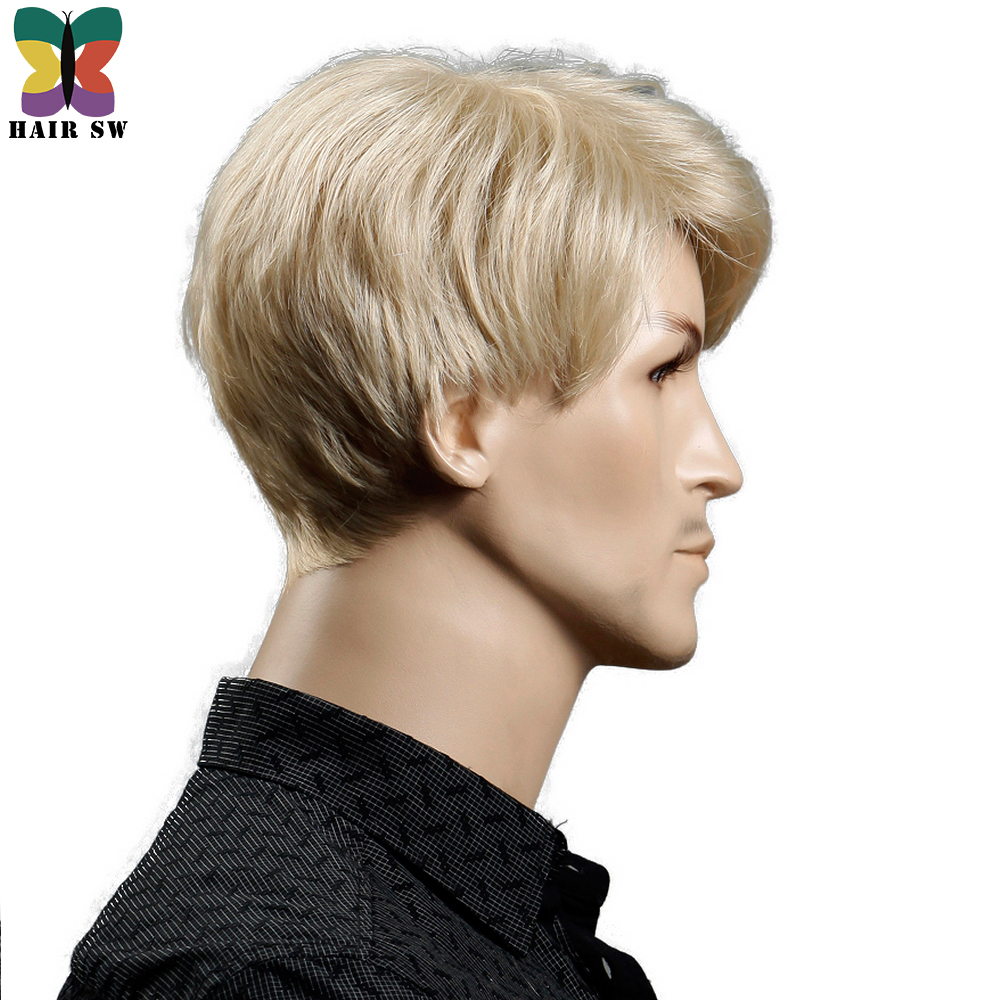 Yiyaobess-6inch-Heat-Resistant-Synthetic-Short-Blonde-Wig-Natural-Hair-Men-Straight-hairStyles-(4)
