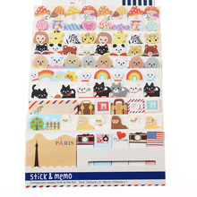 3PCS/bag New Cute Funny Joy Sticker Post It Bookmark Memo Marker Point Flags Sticky Notes