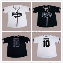 2017 baseball jersey cheap High quality movie Bad Boy 10 Biggie Embroidery sewing White black USA size:S-3XL