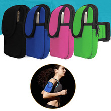 JETTING Double Pockets 2 Sizes Pocket Mobile Arm Band Sport Bag Case for Cell Phone MP3 Key Bike