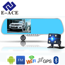 E-ACE 5.0 Inch Android GPS Car Dvr Radar Detector WIFI Bluetooth Automotive Rear View Mirror Camera Dashcam Dual Video Recorder(China)