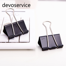 Metal Binder Clips Paper Clip 32mm Office Learning Supplies Office Stationery Binding Supplies Files Documents clips(China)