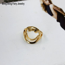 2016 New Fashion Copper Casting Lucky Smile Ring For Women,Free Shipping