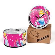 Free Shipping FroZE Movie 2pcs/lot Elsa And Anna Kitchen Fridge Magnets Aluminum Can Wall Clocks,Metal Tin Desk Clocks