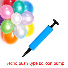 Air Pump Swimming ring pump Mini hand pump Party Balloon Inflator small plastic inflating balloon tool Plastic  Ball Needle
