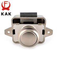 KAK Camper Car Push Lock Diameter 26mm RV Caravan Boat Motor Home Cabinet Drawer Latch Button Locks For Furniture Hardware