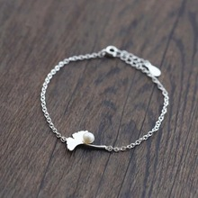 925 Sterling Silver Imitation Pearls Ginkgo Leaves Charm Bracelets For Women Fashion Pulseras Mujer Sterling-silver-jewelry