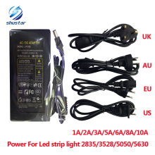 Retail 1A/2A/3A/5A/6A/8A/10A DC 12V LED Power Supply Charger for 5050/3528 SMD LED Light or LCD Monitor CCTV 3 years warranty