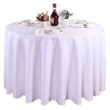 free shipping 10 pieces 120 inch white polyester round tablecloth linen banquet table linen wedding decoration(China)