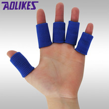 2017 Cheap Price Nylon Sports Finger Sleeves Basketball Safety Thumb Tabe Brace Protector Volleyball Badminton Fitness Wholesale(China)