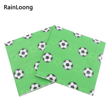 Buy RainLoong Printed Football Paper Napkin Sport Party Tissue Dinner Napkins Supply Party Decoration 33*33cm 20pcs/pack/lot for $2.76 in AliExpress store