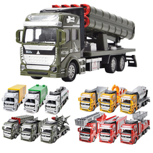 Miniature Model Trucks Toy Alloy Engineering Vehicles Fire truck Military Rocket Car City Car Excavator Toys Gift for Children(China)