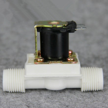 "1/2""BSPP 2Way Nylon Plastic Gravity Feed Solar Solenoid Valve  Normally Closed Water Air Gas Heater Washer Wash Machine"