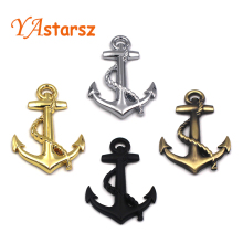 1PC High Quality Metal Personality Car Stickers Boat Anchor Hooks Navy Emblem Grill Cross Badge Pirate Ship Car Body Sticker
