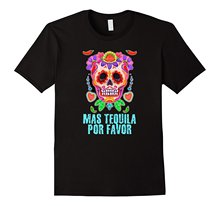 Tequila Skull T-Shirt Cinco De Mayo Funny Drunk Tee Shirt Hot 2017 Summer T Shirt Fashion