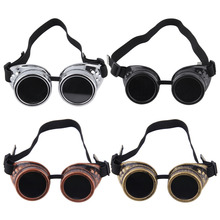 Cyber Goggles Steampunk Glasses Vintage Retro Welding Punk Gothic Victorian Durable Goggles glasses sunglasses 2016 Hot Sale