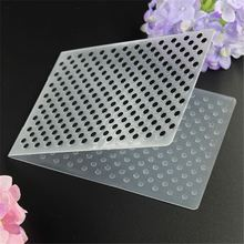 Dots Cake Stencil Biscuit Plastic Embossing Folder DIY Mold Scrapbooking Album Card Cutting Dies Template Craft Tool