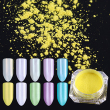 2g Mirror Pearl Powder Mermaid Nail Glitter Pigment Makeup Powder Nail Art Dust Manicure Tips Decoration