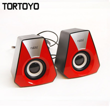 A Pair Mini Media Music Player 3D Surround Subwoofer Stereo Bass USB 2.0 Speaker Loudspeaker Voice Box for PC Computer Laptop