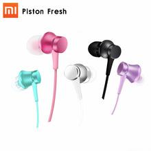Original Xiaomi Earphones Piston Fresh 3 with Microphone Mic Handsfree Wire Control Xiomi In-ear 3.5M Support Noise Cancelling(China)