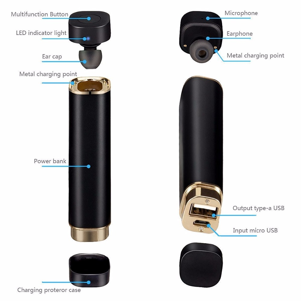 Portable In-Ear Earphone mini wireless bluetooth Headsets Super Bass Earbud vs K2 fone de ouvido For iphone for Xiaomi phone