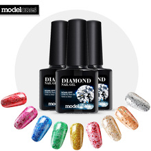 Modelones 10ML Pink Color Glitter Gel Nail Polish UV LED Diamond Gel Varnish Long Lasting DIY Nail Art Soak Off Nail Gel Polish(China)