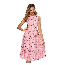 Платье А-силуэта, без рукавов